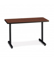 "Mayline T-Mate Starter PRS4824T 48"" W x 24"" D Training Table (Shown in Mahogany / Black)"