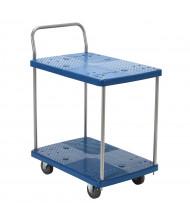 "Vestil PSC-1828-2 Two Shelf 500 lb. 18"" x 28"" Plastic Platform Truck"