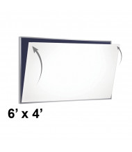 Ghent PSC-46-W PDQ 6' x 4' Porcelain Magnetic Whiteboard Skin Sheet