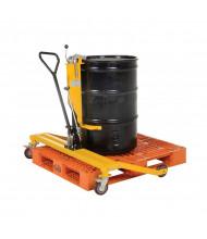 Vestil PSDT Pallet Straddling 55-Gallon Drum Truck, 550 lb Load
