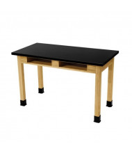 "NPS 36"" H Book Compartment Phenolic Science Lab Table"