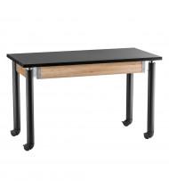 NPS Height Adjustable Mobile Phenolic Science Lab Tables, Black Legs