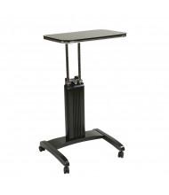 Office Star PSN625 Black Veneer Height Adjustable Laptop Table