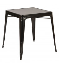 "Office Star 28"" Square Metal Table"