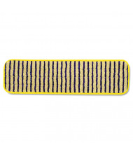"""Rubbermaid 20"""" L Microfiber Scrubber Pad, Yellow, Pack of 6"""