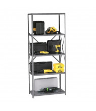 Tennsco Q-Line 5-Shelf Open Back Storage Shelving Unit in Medium Grey