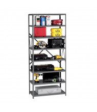 Tennsco Q-Line 8-Shelf Open Back Storage Shelving Unit in Medium Grey