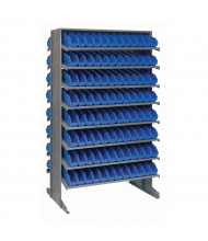 "Quantum Storage Double-Sided Bin Pick Racks with 4"" Bins (Shown in Blue)"