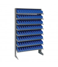 "Quantum Storage Single-Sided Bin Pick Racks with 4"" H Bins (Shown with 96 Bins)"