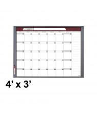 Quartet InView 4' x 3' Total Erase Magnetic Custom Whiteboard