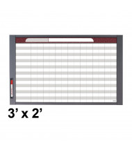 Quartet InView 3' x 2' Total Erase Magnetic Custom Whiteboard