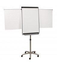 Quartet Prestige 2 Total Erase 2' x 3' Painted Steel Mobile Presentation Easel (Shown With Flipchart Arms Extended)