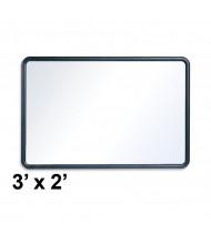 Quartet Contour 3 x 2 Black Frame Melamine Whiteboard