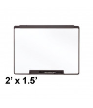 Quartet Motion 2' x 1.5' Black Frame Melamine Whiteboard