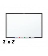 Quartet Classic Series 3 x 2 Black Aluminum Frame Melamine Whiteboard