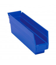 "Quantum Storage 4"" H Plastic Storage Bins (Shown in Blue)"