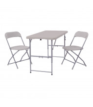 "Office Star Work Smart 48"" W x 24"" D 3-Piece Resin Folding Training Table Set"