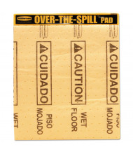 "Rubbermaid Commercial 12 oz.Over-The-Spill Pad Tablet,16-1/2"" W x 14"" L, Yellow, 25/Pack"