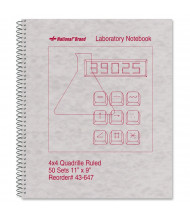"National Brand 9"" X 11"" 100-Sheet Quadrille Rule Lab Notebook, Gray Cover"