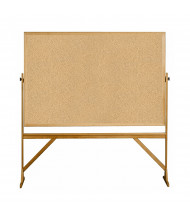 Ghent RKK46 Natural Cork 6 x 4 Wood Frame Reversible Mobile Bulletin Board