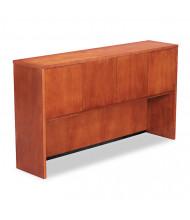 """Alera Verona 65"""" 4-Door Wood Veneer Storage Hutch, Cherry"""