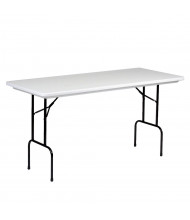 "Correll 72"" W x 30"" D x 36"" H Rectangular Counter Height Folding Table"