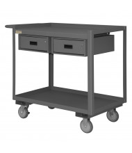 Durham Steel 2-Drawer Mobile Workbench 1200 lb Capacity