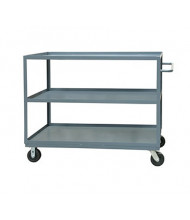 Durham Steel 3-Shelf 3000 lb Load Stock Cart with All Lips Up