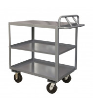 Durham Steel 3-Shelf 3000 lb Load Stock Cart with Top Lips Down
