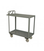 Durham Steel 2-Shelf 1200-3600 lb Load Stock Cart with Top Lips Down (polyurethane casters)