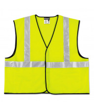 MCR Safety Class 2 Safety Vest, Lime Green w/Silver Stripe, Polyester, 3X-Large
