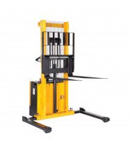 Vestil Powered Drive Lift Stacker 2000 lb Load, Adjustable Forks and Legs (S-62-AA Shown)