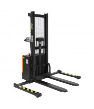Vestil S-62-FA Powered Drive 2000 lb Load, Fixed Forks Lift Stacker