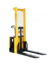 Vestil S-62-FF Powered Drive 2000 lb Load Fixed Forks Lift Stacker