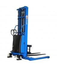"Eoslift 118"" Lift 3300 lb Load Semi-Electric Adjustable Fork Stacker"