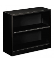 HON Brigade S30ABCP 2-Shelf Metal Bookcase in Black