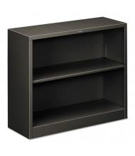 HON Brigade S30ABCS 2-Shelf Metal Bookcase in Charcoal