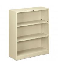 HON Brigade S42ABCL 3-Shelf Metal Bookcase in Putty
