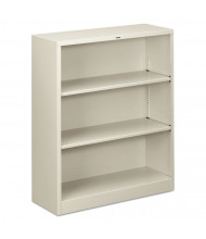 HON Brigade S42ABCQ 3-Shelf Metal Bookcase in Light Grey