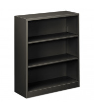 HON Brigade S42ABCS 3-Shelf Metal Bookcase in Charcoal