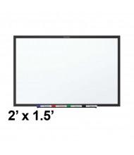 Quartet Classic 2 ft. x 1.5 ft. Black Frame Melamine Whiteboard