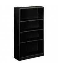 HON Brigade S60ABCP 4-Shelf Metal Bookcase in Black