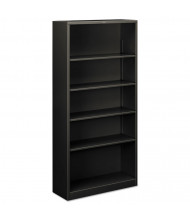 HON Brigade S72ABCS 5-Shelf Metal Bookcase in Charcoal