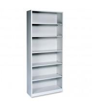 HON Brigade S82ABCQ 6-Shelf Metal Bookcase in Light Grey