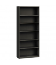HON Brigade S82ABCS 6-Shelf Metal Bookcase in Charcoal