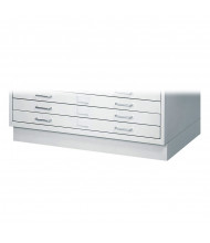 "Safco 4970LG Facil 4-3/4"" H Closed Base for Safco 4969LG Small Flat File (Light Grey)"