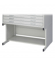 "Safco 4971LG Facil 20-1/2"" H Base for Safco 4969LG Small Flat File (Light Grey)"