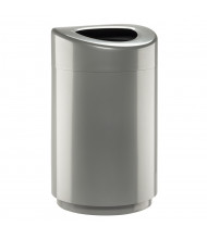 Safco 30 Gal. Open Top Trash Receptacle (Shown in Silver)