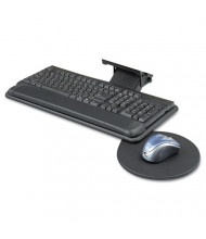 "Safco 17-3/4"" Track Adjustable Keyboard Platform with Swivel Mouse Tray, Black"
