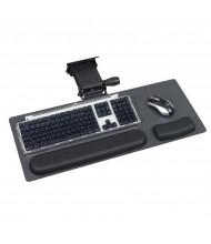 """Safco 21"""" Track Ergo-Comfort Articulating Keyboard and Mouse Platform, Black Granite"""